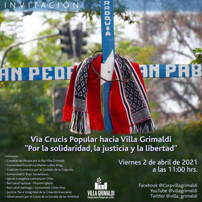 """Invitan a Vía Crucis popular y en forma virtual a Villa Grimaldi: """"Somos un pueblo con hambre y sed de justicia"""""""