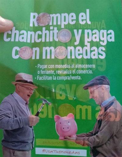 """Ante la poca circulación de monedas llaman a """"romper el chanchito"""""""