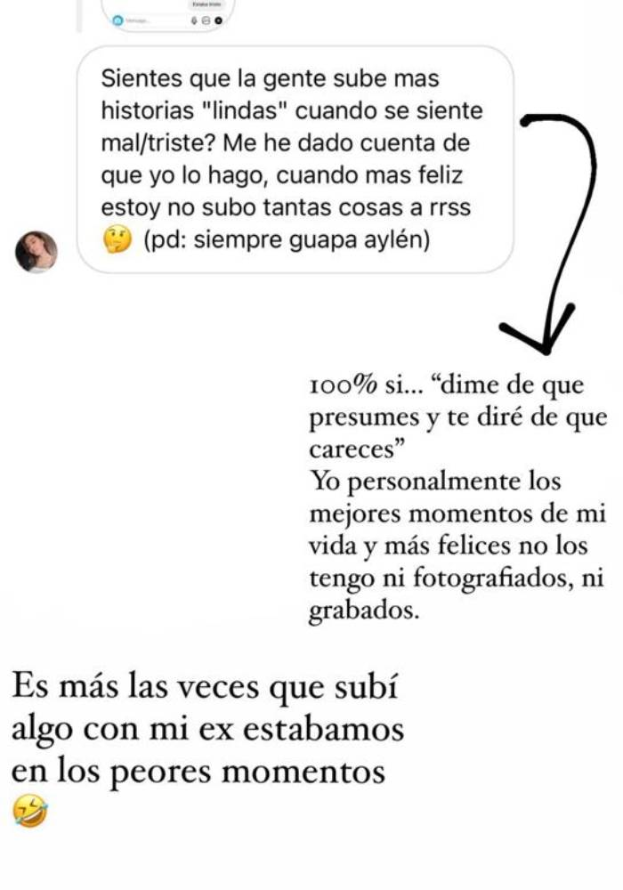 Aylén Milla impactó con revelación sobre su relación con Marco Ferri