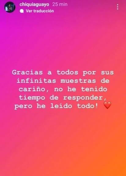 Chiqui Aguayo agradeció los mensajes de apoyo ante el fallecimiento de su padre