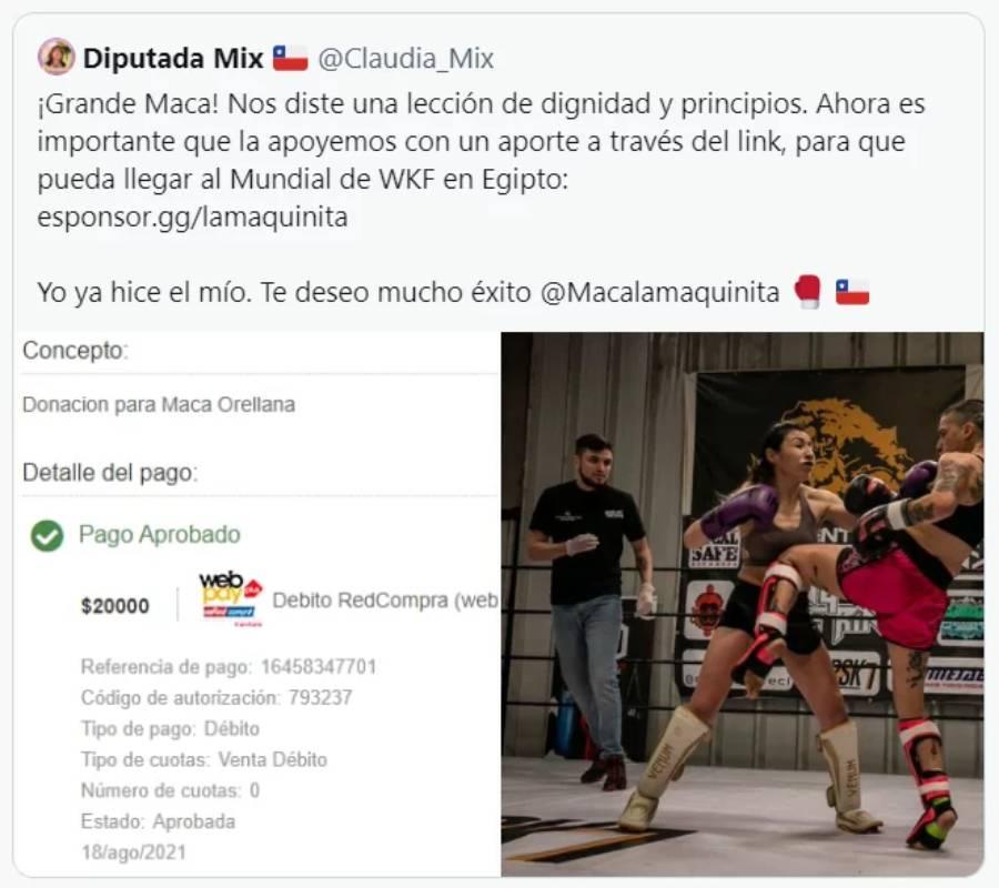 """Donación de diputada Mix a """"La Maquinita"""" genera ola de críticas"""