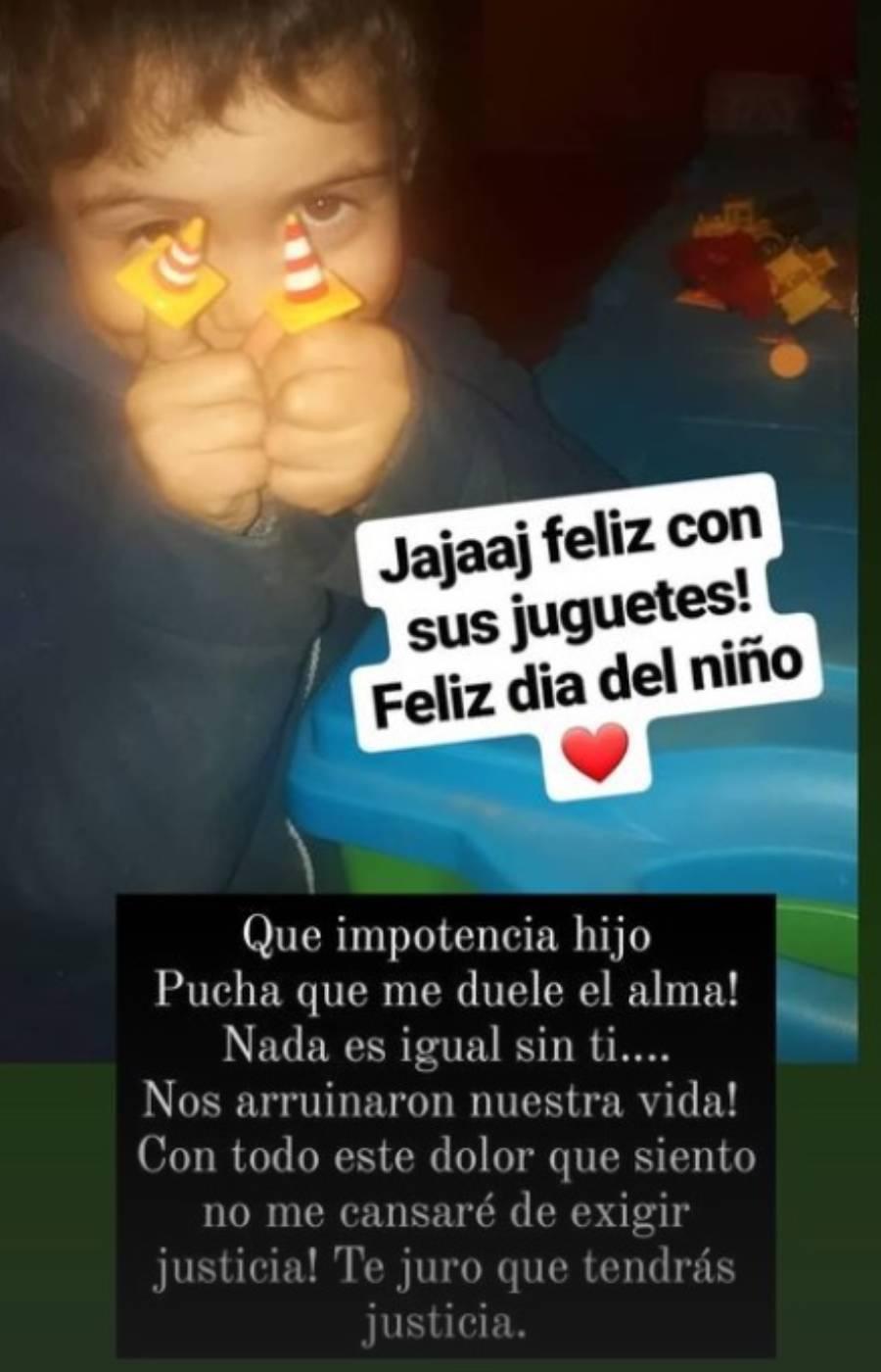 El desgarrador mensaje de madre de Tomasito en el Día del Niño