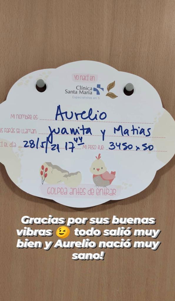 Juanita Ringeling sorprendió con tierna postal junto a su bebé