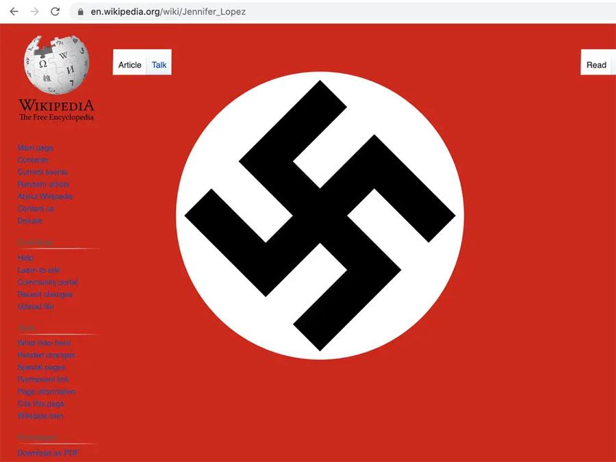 Páginas de Wikipedia fueron vandalizadas con esvásticas nazis
